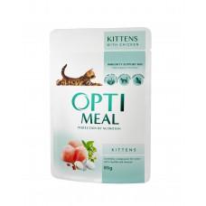 Optimeal konserv.toit kassipoegadele kanalihaga 85g.