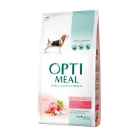 OPTIMEAL™. Täisväärtuslik täissööt täiskasvanud keskmist kasvu koertele kalkunilihaga 12kg.