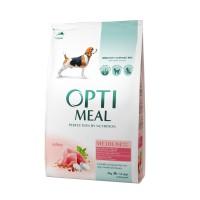 OPTIMEAL™. Täisväärtuslik täissööt täiskasvanud keskmist kasvu koertele kalkunilihaga 4kg.
