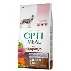 OPTIMEAL™. Teraviljata täisväärtuslik täissööt täiskasvanud koertele - pardiliha ja juurviljad 10kg.