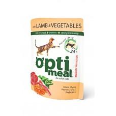 Optimeal konservtoit täiskasvanud kassidele lambaliha ja köögiviljadega želees  85g.