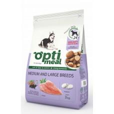 Optimeal kuivtoit keskmist ja suurt tõugu koertele kanaga ja riisiga 3kg.
