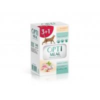 Optimeal konserv.toit kassidele kuulikulihaga valges kastmes 3+1 (4x85g.)