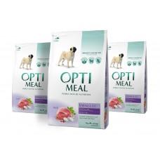 OPTIMEAL™. Täisväärtuslik täissööt täiskasvanud väikest kasvu koertele pardilihaga 3x4kg.