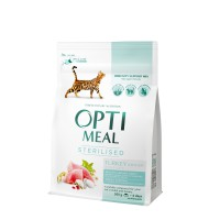 OPTIMEAL™. Täisväärtuslik täissööt steriliseeritud või kastreeritud kassidele kalkuniliha ja kaeraga 300g.